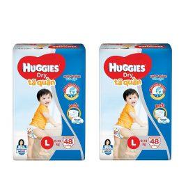 combo 2 gói tã quần huggies l48