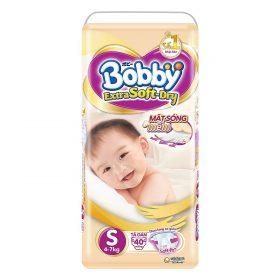Tã Dán Siêu Mềm Bobby Extra Soft Dry Gói Lớn S40 (40 Miếng)