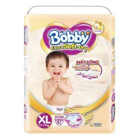 Tã Dán Siêu Mềm Bobby Extra Soft Dry Gói Lớn XL27 (27 Miếng)