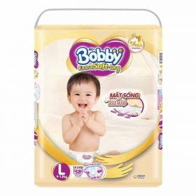 Tã Dán Siêu Mềm Bobby Extra Soft Dry Gói Siêu Lớn L58 Miếng