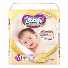 Tã Dán Bobby Extra Soft Dry Siêu Mềm Siêu Lớn M64 Siêu Khuyến Mãi!