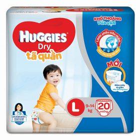 tã quần huggies dry gói l20