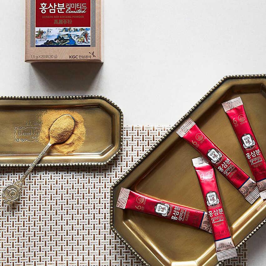 Bột hồng sâm Hàn Quốc KGC Cheong Kwan Jang Powder có tốt không ? Công dụng và cách dùng ?