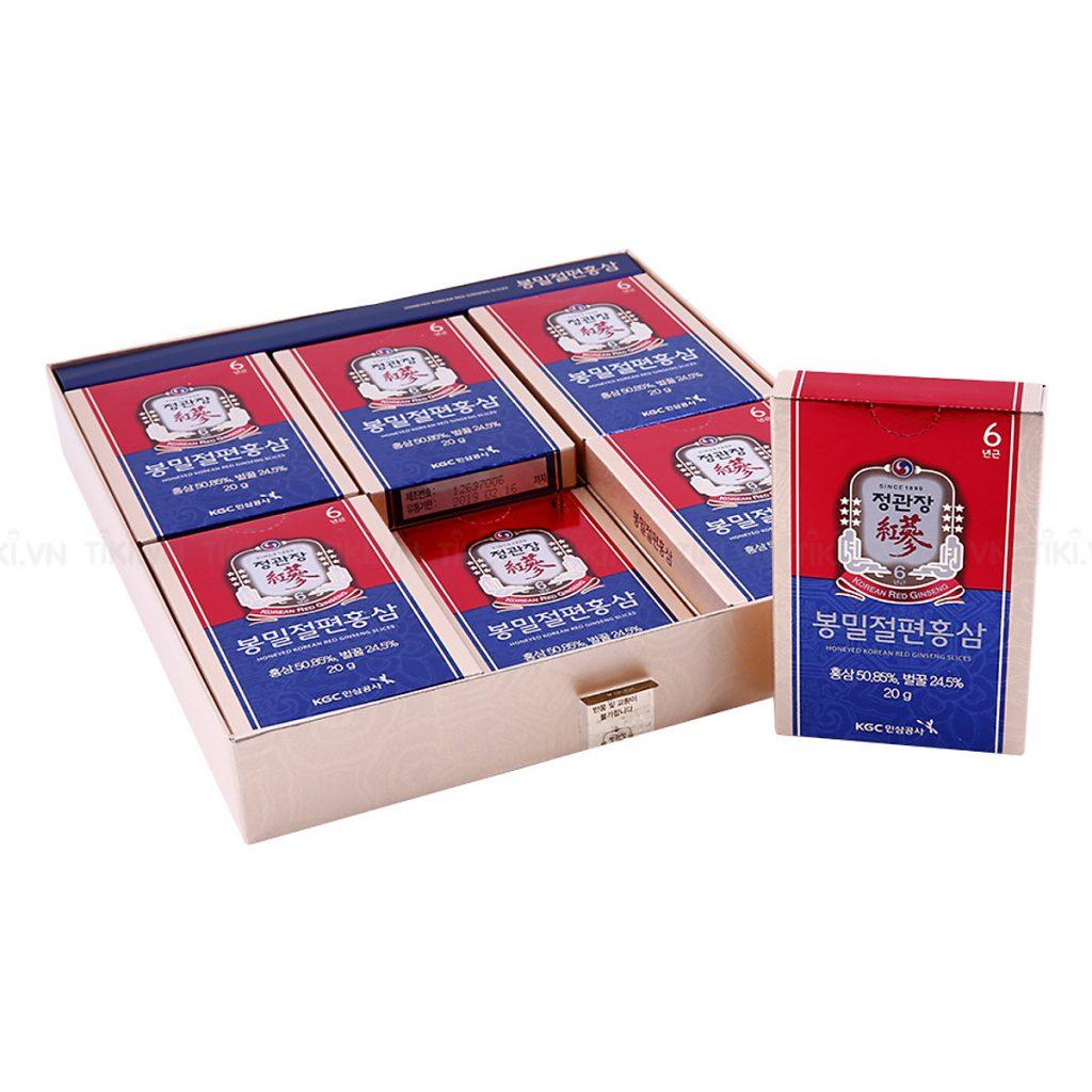 Đánh giá hồng sâm mật ong KGC Honeyed Red Ginseng Slices chi tiết